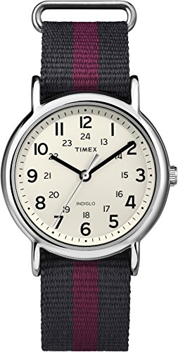 Timex Weekender-T2P469-Unisex Watch Analogue Quartz White Dial Two Tone Beige Nylon Strap