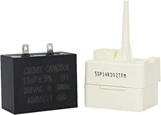 Primeswift W10613606 Refrigerator Compressor Start Relay & Capacitor,Replacement for Whirlpool Maytag 3023300 67005560