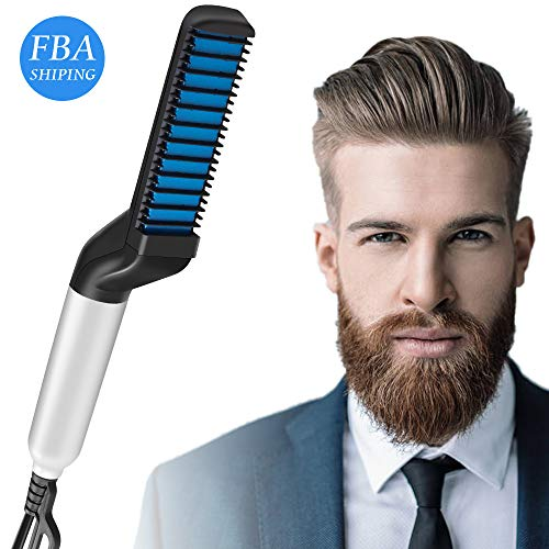 Fantastic Prices! Beard Straightener, Quick Hair Beard Straightening Comb for Men, Electric Hair Sty...