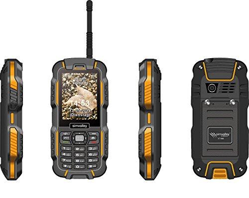simvalley MOBILE PMR Handy: Dual-SIM-Outdoor-Handy, Walkie-Talkie XT-980 2er Set (Rugged Handy)