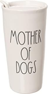 Rae Dunn Mother of Dogs in Large Letters LL Coffee Tea Juice Travel Mug Tumbler Cup with Sealed Sipper lid. by Magenta.