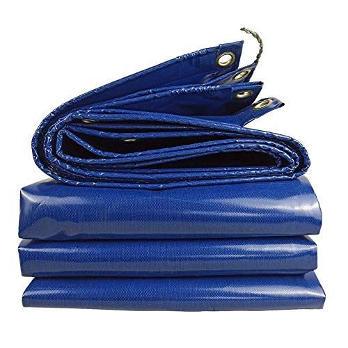 NEVY-Lona Impermeable Lona con Ojales Tarea Pesada Hoja De Lona Universal Antisolar para Acampar Al Aire Libre 380g / ㎡ 12 Tamaños Lona Toldo Lonas Impermeable (Color : Sky Blue, Size : 4X6M)