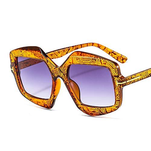 chuanglanja Gafas De Sol Juveniles Gafas De Sol Vintage Con Escudo Gafas De Sol Mujeres Hombres Gradientes Color De La Lente Montura-Color-V