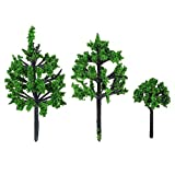 Doitool 40 Piezas de Plástico Modelo de Árbol de Pino Miniatura Modelo de Tren Árboles Paisaje de Ferrocarril Diorama Árbol de La Arquitectura Árboles para DIY Paisaje Decoración de