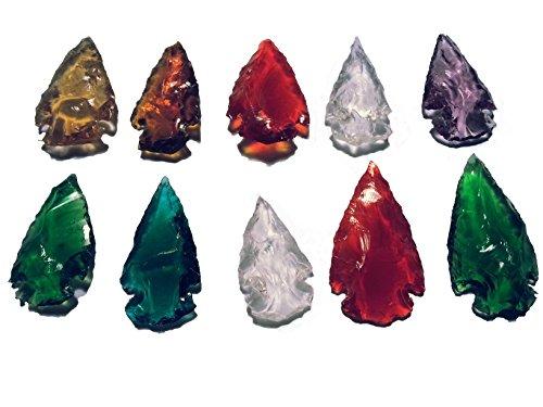 10 Puntas de Flecha de Cristal Multicolor.