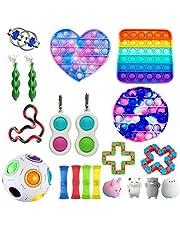 Sensory Fidget zestaw zabawek, autyzm potrzebował zwalczania stresu zabawki, specjalny asortyment zabawek na prezenty urodzinowe, nagrody szkolne, nagrody karnawałowe, wypełniacze toreb na prezenty (20 sztuk)