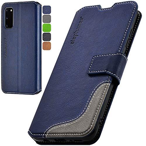 elephones Handyhülle für Samsung Galaxy S20 FE Hülle mit TÜV geprüftem RFID-Schutz aus PU Leder Samsung Galaxy S20 FE Schutzhülle Flip Hülle Klapphülle Handytasche für Samsung S20 FE | S20 FE 5g Blau