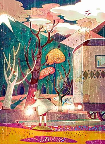 aoyudf Puzzles Rompecabezas Adultos Niños Wooden 1000 Piezas Cada Pieza Es Unica Tecnología Jigsaw Rompecabezas Juego Decoraciones hogar Niño bajo la lluvia-50x75cm
