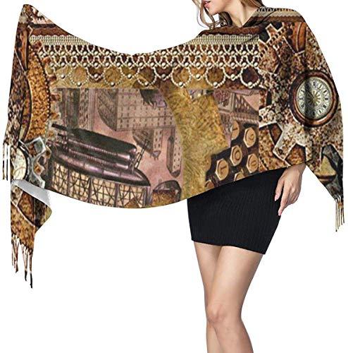 Kom vliegen met mij Steampunk Collage zachte kasjmier sjaal Wrap sjaals lange sjaals voor vrouwen Office Party reizen 68X196 cm