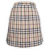 Yingshu Falda de Cintura Alta Harajuku para Mujer Falda de Estudiante a Cuadros Plisada Estilo Universitario Faldas japonesas Kawaii