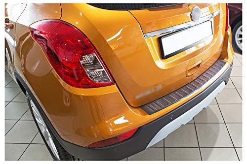 tuning-art L250 Edelstahl Ladekantenschutz Anthrazit für Opel Mokka X 2016-5 Jahre Garantie
