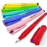 Pentel R50 Ball - Bolígrafo de tinta líquida (7 unidades), diseño retro - Tinta de colores surtidos - Paquete de 7.