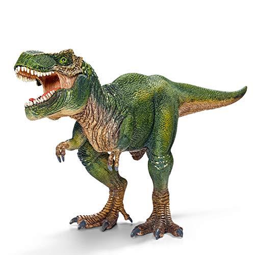 Schleich- Figura dinosaurio Tiranoraurio Rex, Mandíbula inferior articulada, Color Verde, 14 cm (Imaginarium)