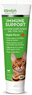 Tomlyn Immune Support Daily L-Lysine Supplement, Maple-Flavored Lysine Gel for Cats and Kittens, 3.5oz