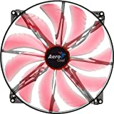 red 200mm fan - AeroCool Silent Master 200mm Red LED Cooling Fan EN55659