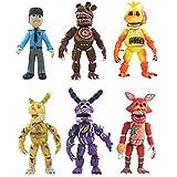6 Unids / Set Cinco Noches En Freddy'S FNAF PVC Figuras De Acción Bonnie Foxy Freddy Fazbear Oso...