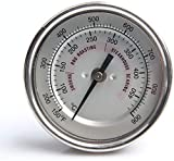 Termómetro de barbacoa, Indicador de temperatura de la puerta exterior, Indicador de temperatura del horno Kamado Joe KJ Grill Plateado