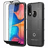 ELESNOW for Samsung Galaxy A20e Case, with Tempered Glass