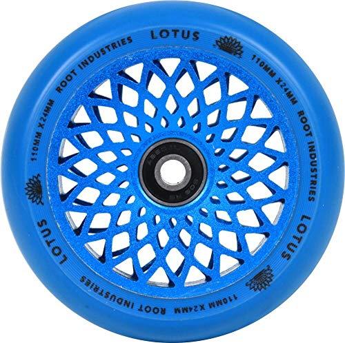 Root Industries Lotus Stunt Scooter - Rueda para patinete (110 mm, incluye pegatinas Fantic26), color azul