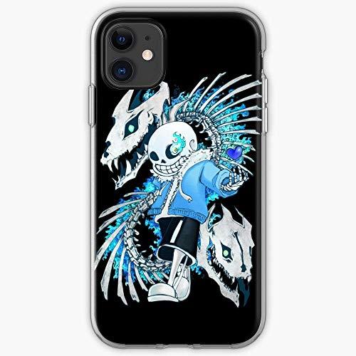 Roadiress Boss Attack Genocide Undertale Sans Run Bones Compatible con iPhone 12/12Pro MAX 12 Mini 11 Pro MAX XR XS/XsMax SE 2020 7 8 6/6s Plus Huawei Samsung Series Funda Protectora
