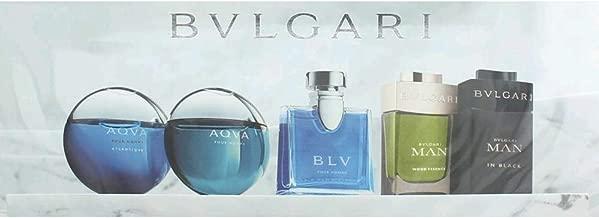 Bvlgari by Bvlgari, 5 Piece Mini Variety Set for Men