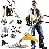 4ストロークナップザックコードレス草刈り機、パワーウィード、コードレス直軸草刈り機、電動芝刈り機、芝刈り機、トリマー、芝生や庭のフィールドに使用,1