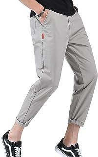 [Limore(リモア)] ストレート チノパン アンクル テーパード ロング パンツ 美脚 シンプル レギュラー 綿パン メンズ