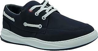 حذاء نوباك صناعي برباط وعراوي مختلفة اللون بخياطة من الجزء العلوي للرجال من زيرو 3 - كحلي، 45