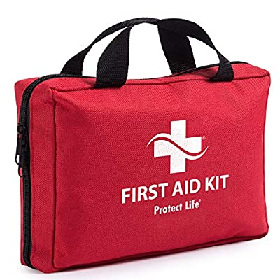 First Aid Kit - 200 piece - for Car, Home, Travel, Camping, Office or Sports | Red bag w/reflective cross, fully stocked with essential supplies for Emergency and Survival from Hangzhou Aosi Healthcare Co. Ltd.
