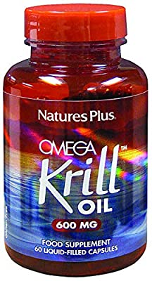 Natures Plus Omega Krill Oil 600mg - 60 Liquid-Filled Capsules by Natures Plus