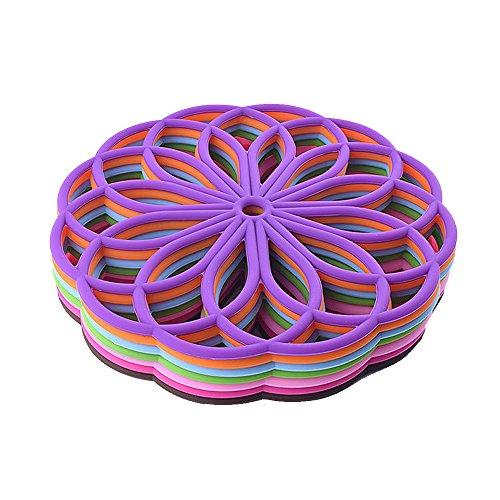 Fanuosuwr Regalos para el Hogar Tenedor de ollas de Silicona Trivet Mat para Hornear Gadget Cocina Mesa Mesa Silicona Secado Mat Tablero Drenaje Prácticos Posavasos