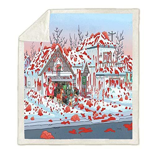 YZDM - Manta cálida con franela, manta estampada de felpa para niños y adultos, para niños y adultos