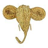 ASJ Cabeza Elefante de Esparto 40 x 20 x 40 cm