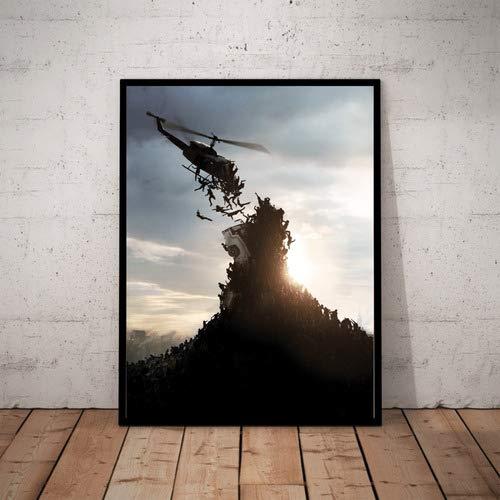 Quadro Decorativo Guerra Mundial Z Poster Moldurado