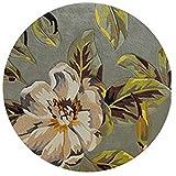 Tingting-Alfombras, Flor de la Planta Alfombra de Lana Pura Redonda Tejido a Mano clásico Envejecido Retro (Color : Flower10, Tamaño : 300)