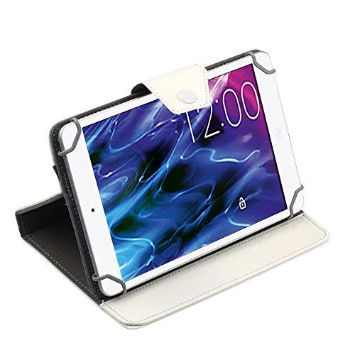 UC-Express Tablet Tasche für Medion Lifetab P8514 P8314 P8312 P8311 S8312 S8311 Hülle Hülle, Farben:Weiß