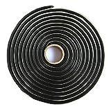 Proudsun Butyl Sealant Tape 13Ft Rubber Rope Waterproof Butyl Black Reseal Glue for Sealing Molding RV Car Window Door Windshield