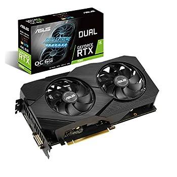 ASUS GeForce RTX 2060 Overclocked 6G GDDR6 Dual-Fan EVO Edition VR Ready HDMI DisplayPort DVI Graphics Card  DUAL-RTX2060-O6G-EVO