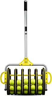 Crown Sporting Goods EZ Roller 2-in-1 Tennis Ball Collector and Ball Hopper with 25 Practice Balls