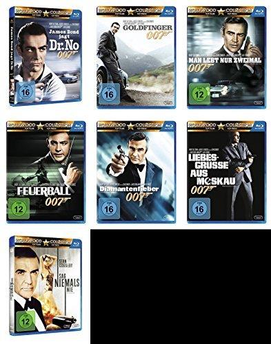 James Bond 007 SEAN CONNERY komplette Edition 7 BLU-RAY Collection -- > JAGT DR. NO * GOLDFINGER * MAN LEBT NUR ZWEIMAL * FEUER