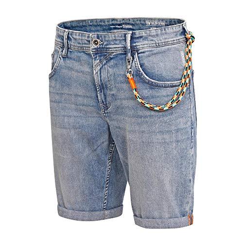 TOM TAILOR Denim Herren Blue Denim Shorts Hose, 10118-Used Light Stone, L