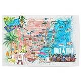 artboxONE Poster 30x20 cm Städte Miami Florida Travel Map