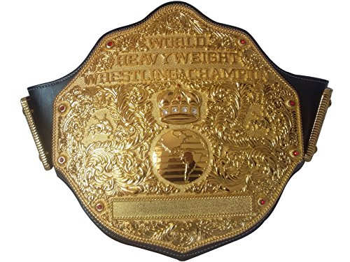 Fandu Belts Adult Replica Big Gold Wrestling Championship Belt Title The Best Gift to Your Greatest Daddy