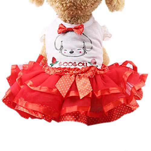 Routinfly Haustier Kleidung,Hund Katze Kleidung,Haustier Hund Katze Kleid Obst Prinzessin Sommer Breathable Kleid Kleidung