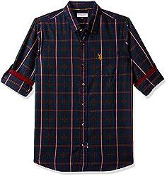 US Polo Kids Boys Checkered Regular Fit Shirt