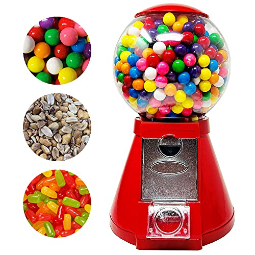 Red Classic Metal Gumball Machine by American Gumball Company, 11-inch