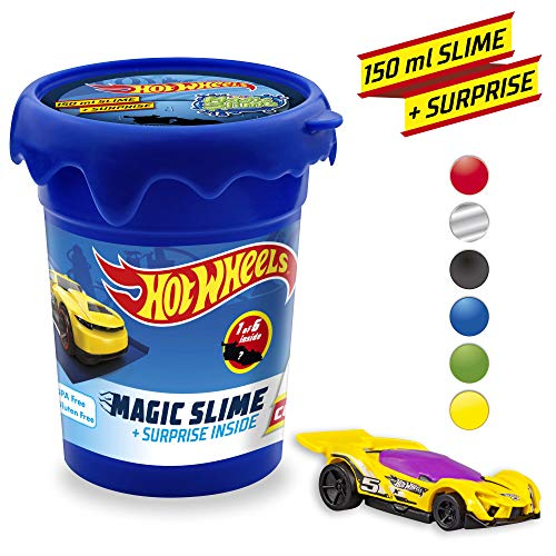 CRAZE 16374 HOT Wheels Mattel Magic Slime Kinderschleim Schleim für Kinderzimmer Kinderparty, Mehrfarbig