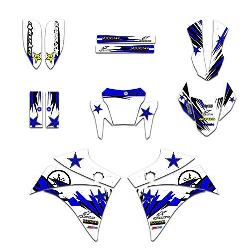 Motocross Pegatinas Kits de Etiqueta de la calcomanía gráfica de la Motocicleta para Yamaha XT660R XT 660 R 2004 05 06 07 08 09 10 11 12 13 14 15 16 2017 2018 2019 2020 (Color : As The Picture)