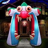 Holidayana 10 ft Inflatable Halloween Clown Arch Yard Decoration - Clown Arch Inflatable Decoration with LED Lights, Built-in Fan, and Tie-Downs
