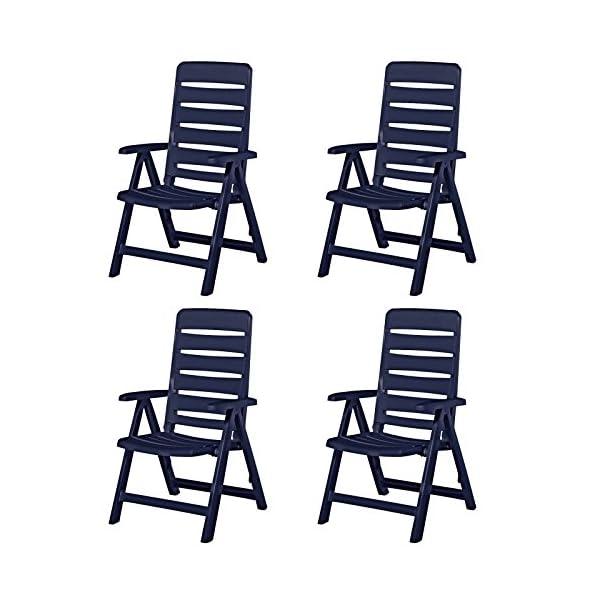 Kettler 4 Nizza Gartenstühle Gartenmöbel Sessel Klappsessel in blau